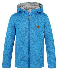 LOAP Detský sveter s kapucňou Kefir- modrý, 152 cm