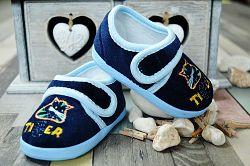 Lola Baby Chlapčenské capáčky s tigrom - tmavo modré, EUR 19