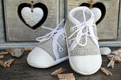 Lola Baby Detské topánočky na šnúrky - šedé, EUR 19