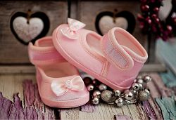 Lola Baby Dievčenské capáčky s mašľou - ružové, EUR 21