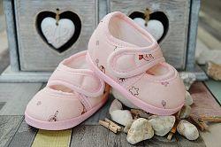 Lola Baby Dievčenské capáčky s potlačou - svetlo ružové, EUR 18