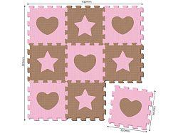 MaDe Puzzle penové 9 dielov - ružové