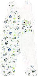 Mamatti Chlapčenské dupačky Psík s potlačou - biele, 56 cm