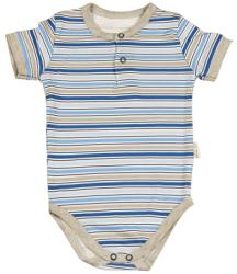 Mamatti Chlapčenské pruhované body - modré, 68 cm