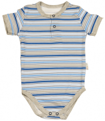 Mamatti Chlapčenské pruhované body - modré, 80 cm