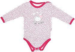 Mamatti Dievčenské body Ovečka - ružovo-biele, 98 cm