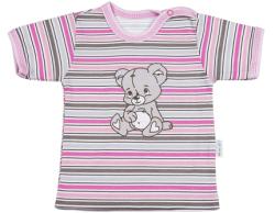 Mamatti Dievčenské tričko s medvedíkom, 74 cm