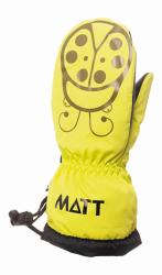 Matt Dievčenské palčiaky Marieta - žlté, 98 cm