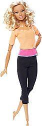 MATTEL Barbie V pohybe - blondínka v oranžovom tričku