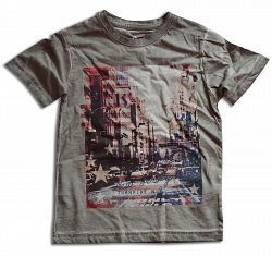 Minoti Chlapčenské tričko JERSEY 7 - šedé, 110 cm