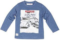 Minoti Chlapčenské tričko Race 3 s obrázkom - modré, 98-104 cm