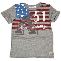 Minoti Chlapčenské tričko s potlačou Jersey - šedé, 116 cm