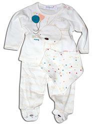 Minoti Detský komplet trička, nohavíc a podbradníka Friends - biely, 68 cm
