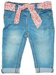 Minoti Dievčenské nohavice Pretty 5 so šatkou - modré, 98-104 cm