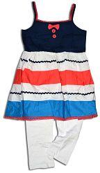 Minoti Dievčenské set - nohavice a top CORAL 5 - bielo-modrý, 86 cm