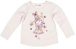 Minoti Dievčenské tričko Berry 1 s baletkou - svetlo ružové, 122-128 cm