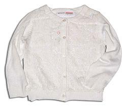 Minoti Dievčenský sveter Garden - biely, 80 cm