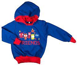MMDadak Chlapčenská mikina s kapucňou Friends - modrá, 68 cm