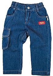 MMDadak Chlapčenské džínsové nohavice s nášivkou Fest Drive - modré, 92 cm