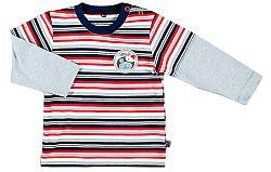 MMDadak Chlapčenské pruhované tričko - farebné, 74 cm