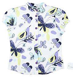 MMDadak Dievčenská blúzka s motýlikmi Butterfly Princess - biela, 104 cm