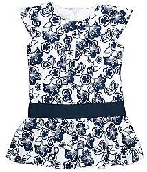 MMDadak Dievčenská vzorovaná tunika Granat - modro-biela, 80 cm
