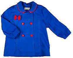 MMDadak Dievčenské krátky kabát s mašličkou KOKARDK - modrý, 74 cm