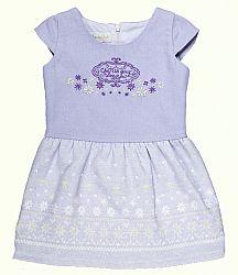 MMDadak Dievčenské šaty so snehovými vločkami - biele, 98 cm