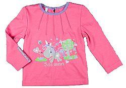 MMDadak Dievčenské tričko s jednorožcom - ružové, 68 cm