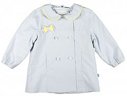 MMDadak Dievčenský kabát Heart - sivý, 110 cm