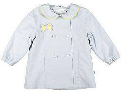 MMDadak Dievčenský kabát Heart - sivý, 80 cm