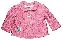 MMDadak Dievčenský kabátik so sovou - ružový, 68 cm