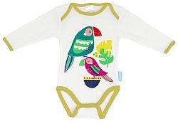 Moshi Moshi Detské body s dlhým rukávom Pretty Parrots, 80 cm