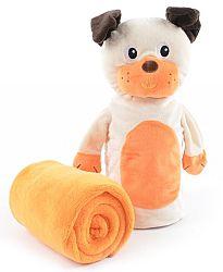My Best Home Detská deka s bábkou Puppet Fun Psík, 75x90 cm