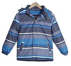Nickel sportswear Chlapčenská pruhovaná bunda - šedo-modrá, 110 cm