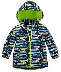 Nickel sportswear Chlapčenská softshellová bunda s rybami - farebná, 98 cm