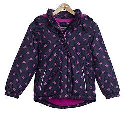 Nickel sportswear Dievčenská bunda s hviezdičkami - čierno- ružová bc6fc92aa6e