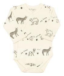 Nini Detské zavinovacie body so zvieratkami - béžové, 56 cm