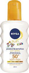 Nivea Sun Detský sprej na opaľovanie Sensitive OF50 + 200 ml