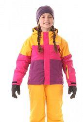 Nordblanc Dievčenská lyžiarska bunda Want - oranžovo-ružovo-fialová