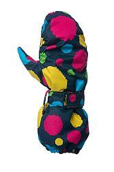 O'Style Detské bodkované zateplené rukavice - farebné, 92 cm