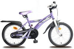 """Olpran Detský bicykel Domme 16"""" - bielo-fialové"""