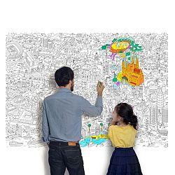 OMY DESIGN & PLAY Omalovánkový plagát BARCELONA