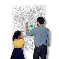 OMY DESIGN & PLAY Omalovánkový plagát France