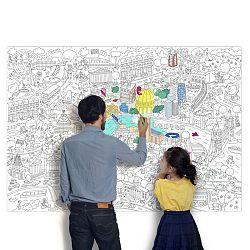OMY DESIGN & PLAY Omaľovánkový plagát Londres