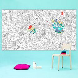OMY DESIGN & PLAY Veľké maľovanky XXL London