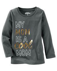 Oshkosh Detské tričko Cool mom - tmavo šedé, 74 cm