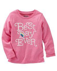 Oshkosh Dievčenské tričko Best day - ružové, 80 cm