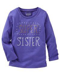 Oshkosh Dievčenské tričko Super sister - fialové, 92 cm