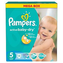 Pampers Active Baby-dry 5 Junior, 111 ks (11-18 kg) - jednorazové plienky